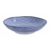 Buy the Tokyo Design Studio Nippon Pasta Bolw Blue Wave online at smithsofloughton.com