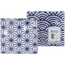 Buy the Tokyo Design Studio Nippon Star Wave Blue Napkin online at smithsofloughton.com