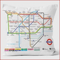 Buy the Tube Map Cushions 40cm online at smithsofloughton.com