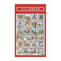 Buy the Ulster Weavers London AZ Tea Towel online at smithsofloughton.com