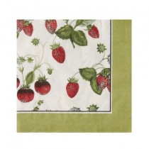 Buy the Ulster Weavers RHS Strawberry Paper Napkins online at smithsofloughton.com