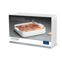 Buy the Villeroy and Boch Clever Cooking Rectangular Baking Dish with Lid, 34x24cm online at smithsofloughton.com