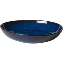 Buy the Villeroy and Boch Lave Bleu Small Flat Bowl 22cm online at smithsofloughton.com