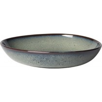 Buy the Villeroy and Boch Lave Gris Small Flat Bowl 22cm online at smithsofloughton.com