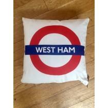 Buy the West Ham Tube Station Cushions online at smithsofloughton.com