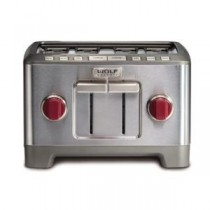 Buy the Wolf 4 Slice Toaster (Red Knob) online at smithsofloughton.com