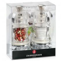 Buy the Zassenhaus Berlin Acrylic Salt and Pepper Mill Set onlone at smithsofloughton.com