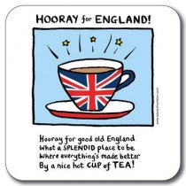 Buy then Customworks Hooray for England Drinks Coaster online at smithsofloughton.com