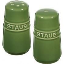 Buy theStaub Ceramic Salt and Pepper Shakers Cherry Green online at smithsofloughton.com