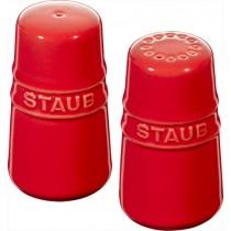 Buy theStaub Ceramic Salt and Pepper Shakers Cherry Red online at smithsofloughton.com