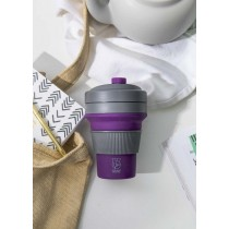 Buy this Colourworks Purple Silicone Collapsible Travel Mug online at smithsofloughton.com