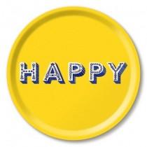 Buy this Jamida Asta Barrington Yellow Happy Round Drinks Tray online at smithsofloughton.com