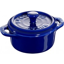 Buy this Staub Mini Round Cocotte in Blue online at smithsofloughton.com