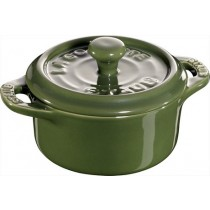 Buy this Staub Mini Round Cocotte in Green online at smithsofloughton.com