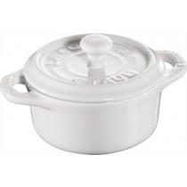Buy this Staub Mini Round Cocotte in White online at smithsofloughton.com