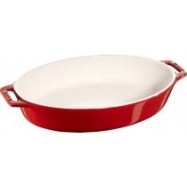 Buy this Staub Oval Baking Dish Cherry Red 23cm online at smithsofloughton.com