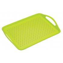 Colourworks Non-Slip Serving & Lap Tray Green