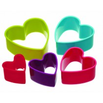 Kitchen Craft Colourworks Heart Shaped Cookie Cutters