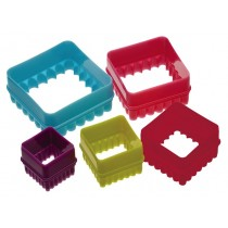 Kitchen Craft Colourworks Square Cookie Cutters