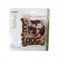 Dog and Bone Cookie Cutter Set