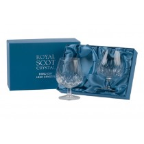 Royal Scot Crystal Sapphire Brandy Glasses