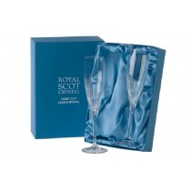 Royal Scot Crystal Sapphire Champagne Flutes
