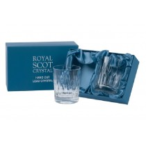 Royal Scot Crystal Sapphire Large Old Fashioned Tumblers