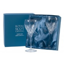 Royal Scot Crystal Sapphire Large Wine Glasses