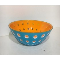 Buy the Guzzini Le Murrine Bowl Azure Orange 20cm online at smithsofloughton.com