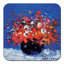 Castle Melamine Flowers Coaster