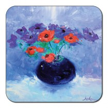 Castle Melamine Poppy Coaster