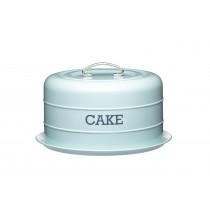 Kitchen Craft Living Nostalgia Airtight Domed Cake Tin Blue