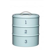 Kitchen Craft Living Nostalgia Three Tier Cake Tin Set Blue
