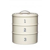 Kitchen Craft Living Nostalgia Three Tier Cake Tin Set Cream