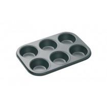 Master Class Non-Stick 6 Hole Deep Baking Pan