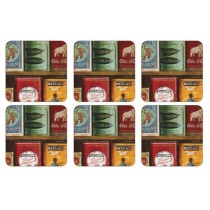 Pimpernel Vintage Tins Coasters Set of 6