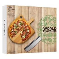 Purchase the KitchenCraft World of Flavours Italian Pizza Serving Set online at smithsofloughton.com