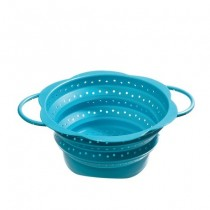 Purchase the Kuhn Rikon Kochblume Collapsible Colander Turquoise 19cm online at smithsofloughton.com