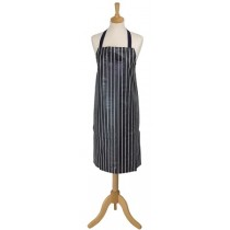 Rushbrookes Butcher's Stripe Navy PVC Kitchen Apron