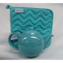 Six Cup Bora Blue Teapot