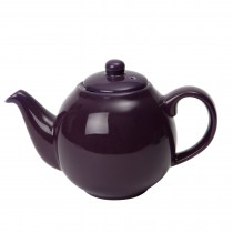 London Pottery  6 Cup Plum Purple Globe Teapot