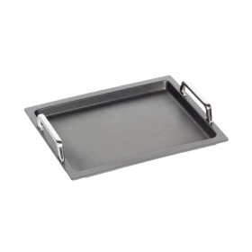 AMT Gastroguss Non-Stick Induction Plain Grill Sheet with Handles 36 x 33 x 2cm