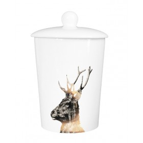Little Weaver Arts Canister Stag Gold Imperial
