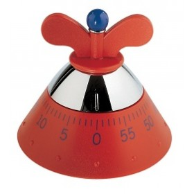 Alessi Kitchen Timer Red
