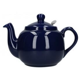 London Pottery Farmhouse 4 Cup Filter Teapot Cobalt Blue