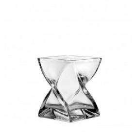 Leonardo Glass Swirl Vase 17cm