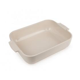 Appolia Rectangle Ceramic Baking Dish Ecru 32cm
