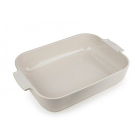 Appolia Rectangle Ceramic Baking Dish Ecru 40cm