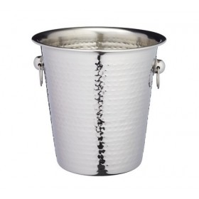 BarCraft Hammered Steel Sparkling Wine and Champagne Bucket
