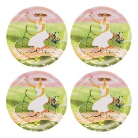 Jamida Bessie Johanson My Day Off 4pc Drinks Coasters 11cm